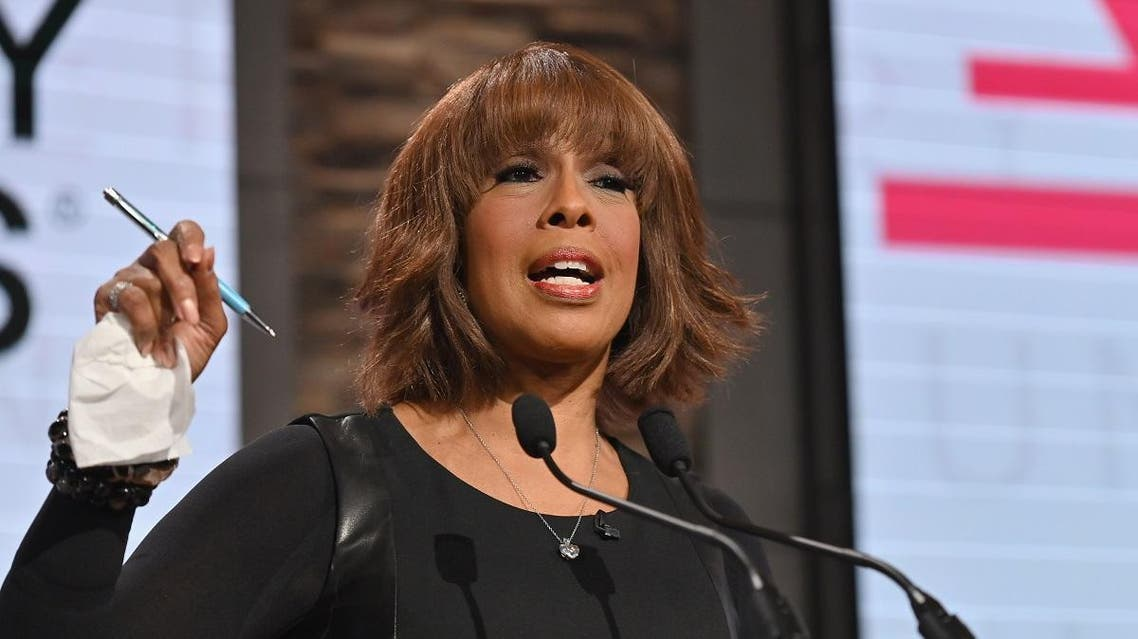 Gayle King speaks during the 62nd Grammy Awards Nominations Conference at CBS Broadcast Center on November 20, 2019 in New York City. (AFP)
