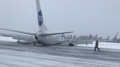 سلسلة مشاكل بالعجلات والمدرج.. وطائرة ترتطم أرضاً دون إصابات