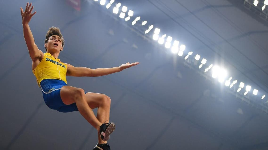 Sweden's Armand Duplantis reacts after passing 5.97 during the Men's Pole Vault final at the 2019 IAAF Athletics World Championships. (File photo: AFP)