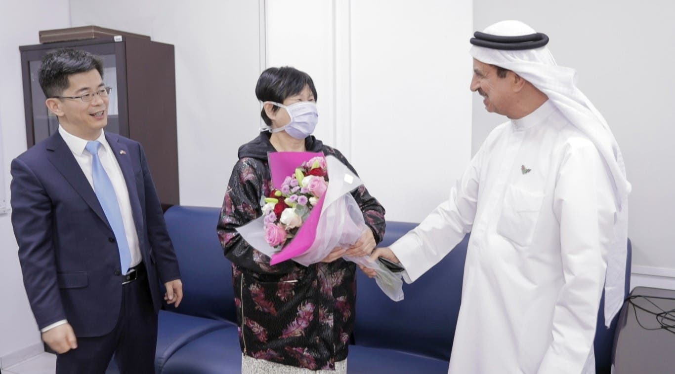 The Chinese Consul General in Dubai Li Xuhang visiting Yujia. (WAM)