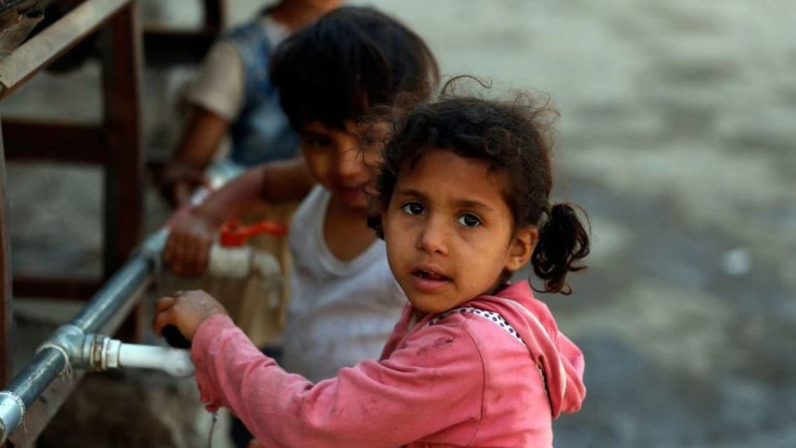 من أطفال اليمن النازحين