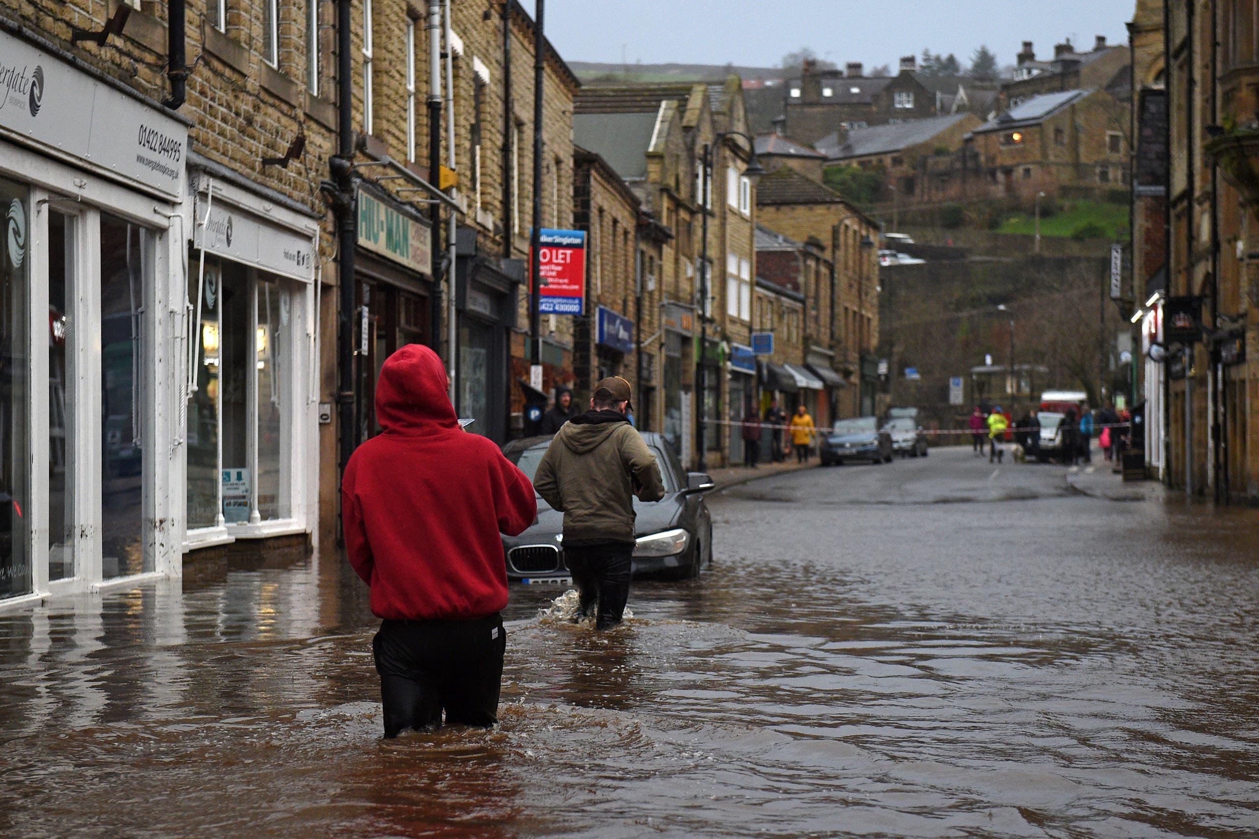 ما سببته التقلبات الجوية في بريطانيا