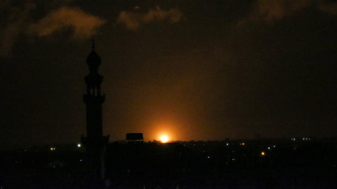 A ball of fire is seen following an Israel airstrike at Khan Yunis in the southern Gaza Strip early on February 10, 2020. (Photo: AFP)