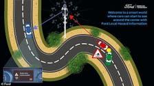 سيارات ذكية تتحدث مع إشارة المرور وتحذر من الطقس