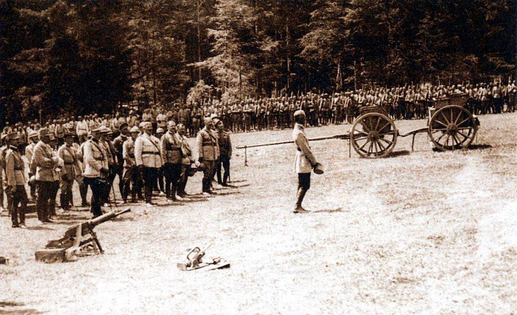 جانب من القوات الرومانية خلال الحرب العالمية الأولى