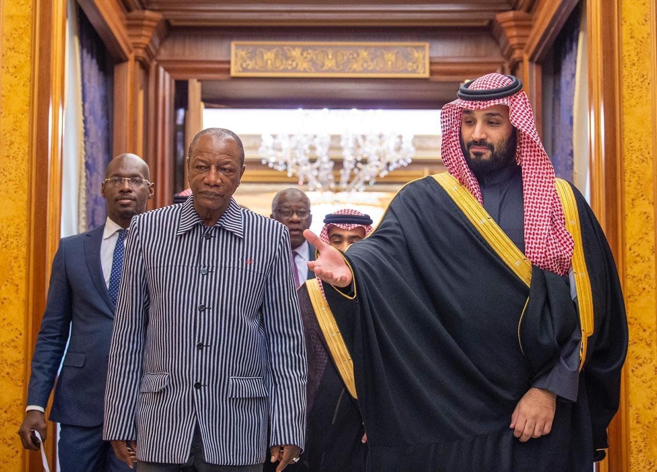 محمد بن سلمان مع ألفا كوندي