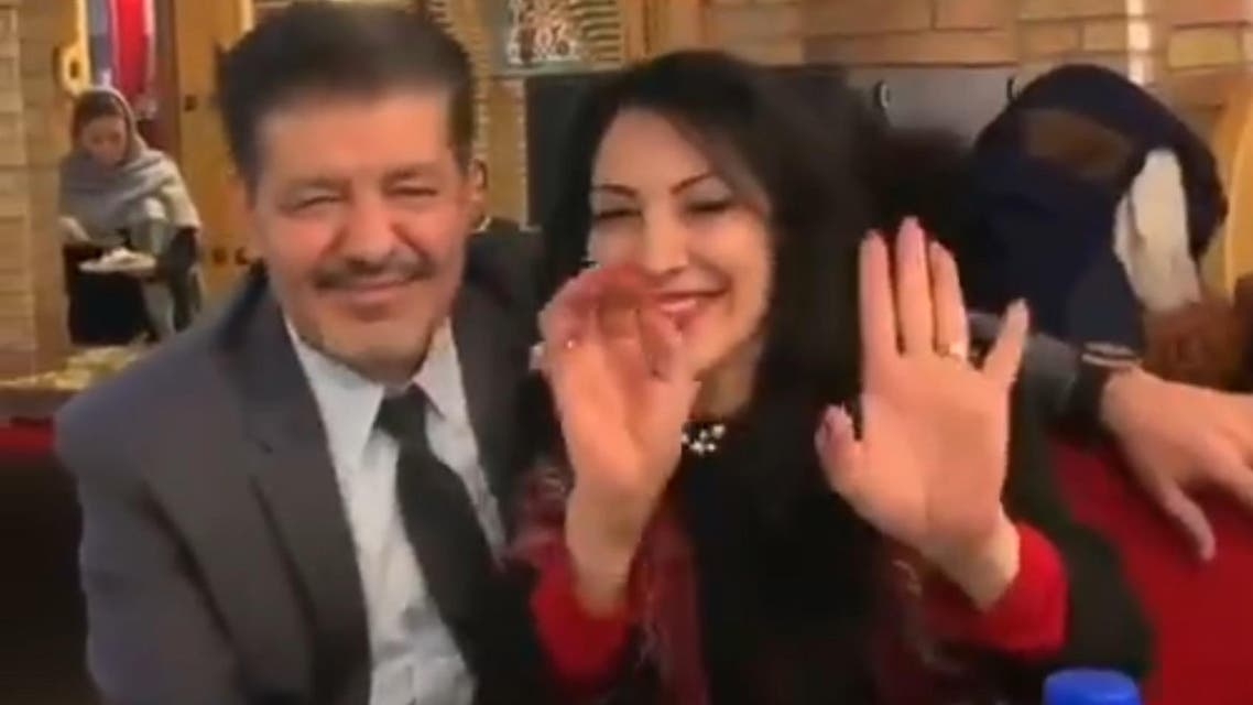 Iranians dancing in restaurant screen grab