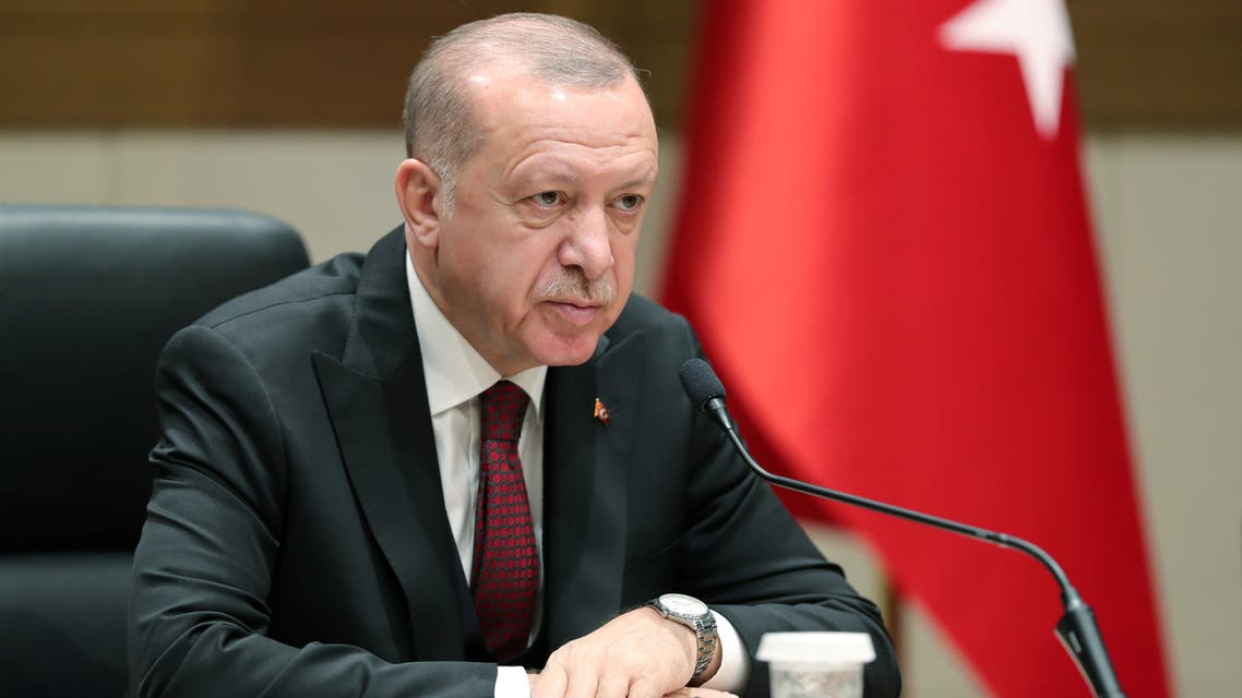 Turkish President Erdogan speaks during a news conference in Istanbul, Turkey, February 3, 2020. (Reuters)