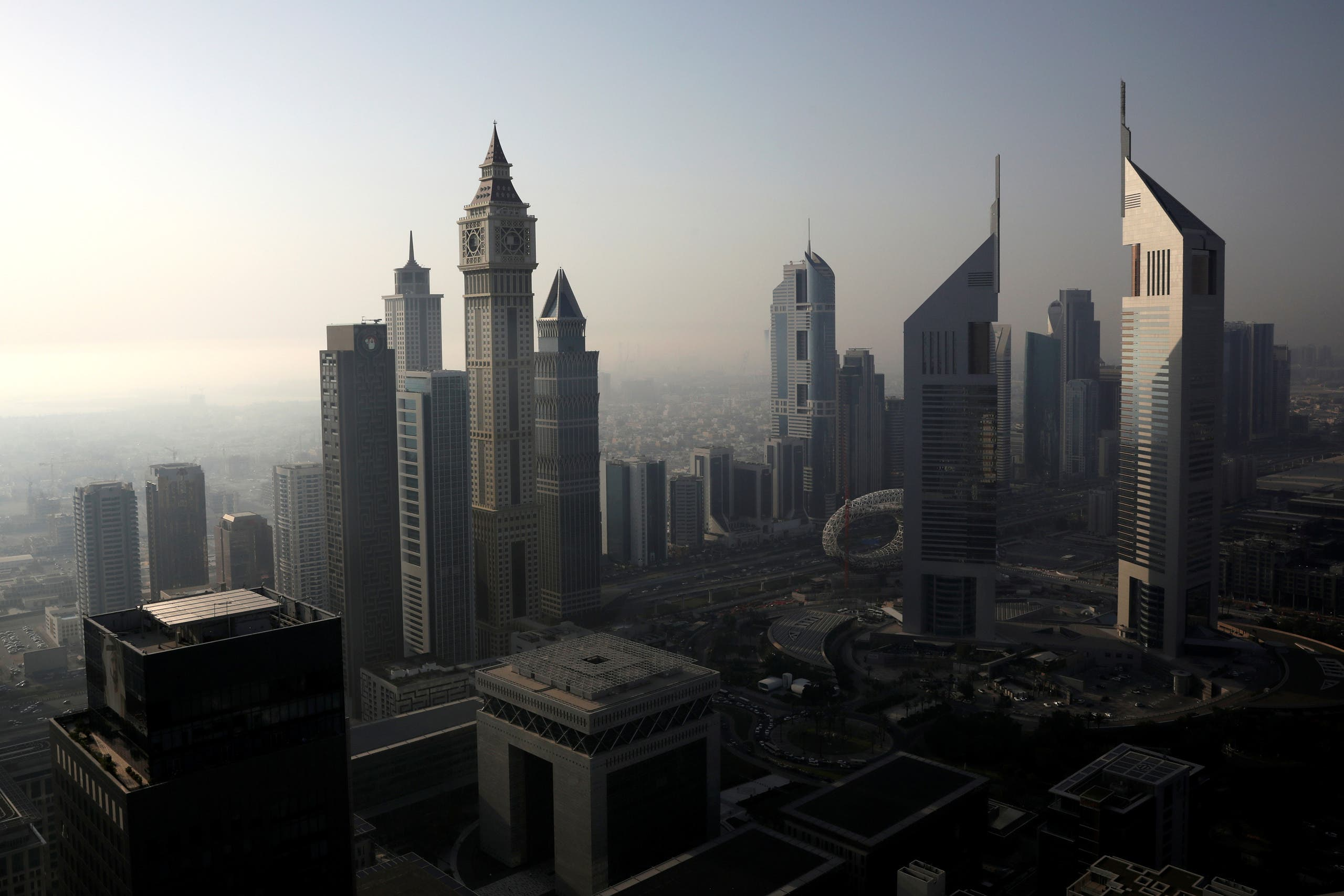 A general view of Dubai International Financial Center (DIFC) among high-rise towers in Dubai. (Reuters)