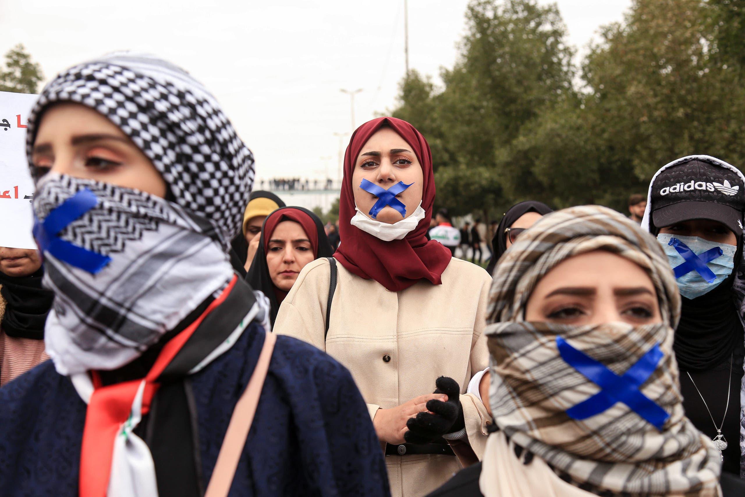 تظاهرة طلابية وسط بغداد (أرشيفية- فرانس برس)