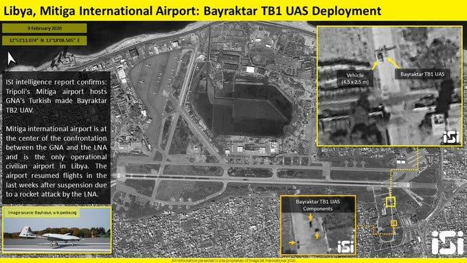 طائرات تركية مسيرة في مطار معيتيقة
