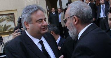 رامي لكح ومحمد بديع مرشد الإخوان