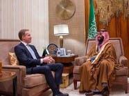 ولي العهد السعودي يلتقي رئيس منتدى دافوس بالرياض