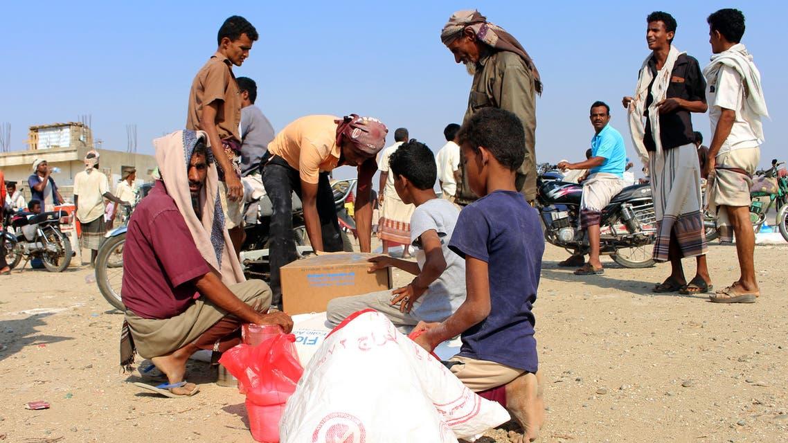 مساعدات غذائية إلى اليمن (أرشيفية- فرانس برس)
