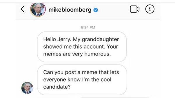 Mike Bloomberg Launches Paid Meme Campaign Prompting Ridicule And