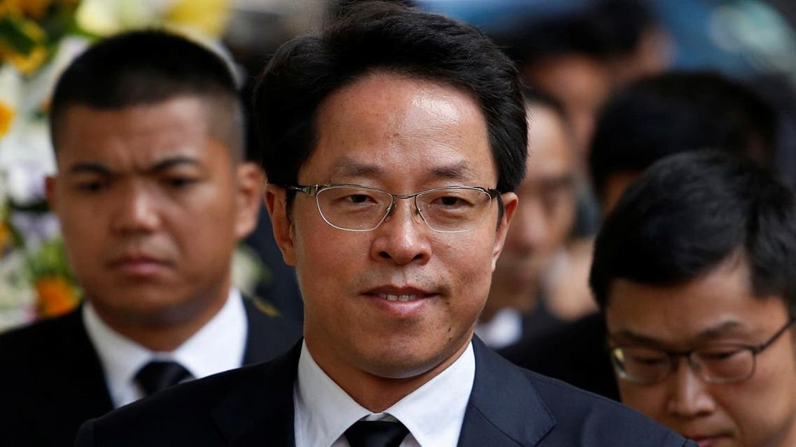 Zhang Xiaoming, Director of China's Liaison Office in Hong Kong, attends the funeral of Cheng Yu-tung, founder of Hong Kong property group New World Development, in Hong Kong, China October 13, 2016. (File photo: Reuters)