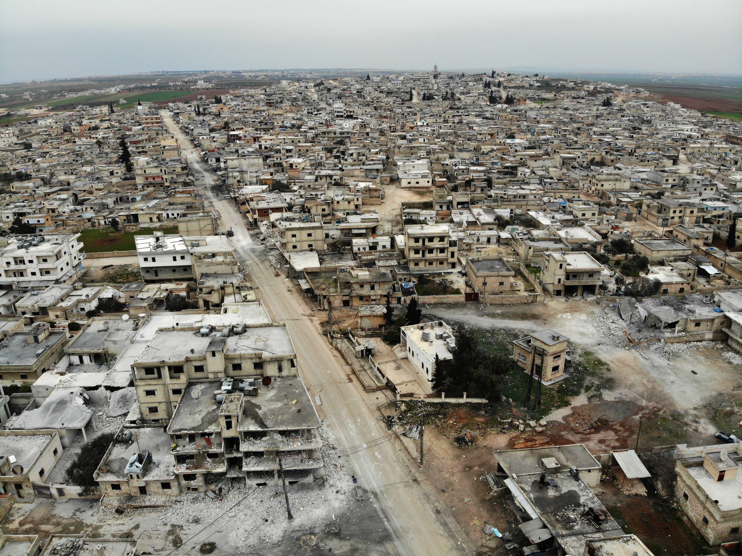من إدلب يوم 12 فبراير (فرانس برس)