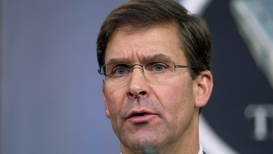 US Secretary of Defense Mark Esper speaks to reporters during a briefing at the Pentagon on Aug. 28, 2019. (File photo: AP)