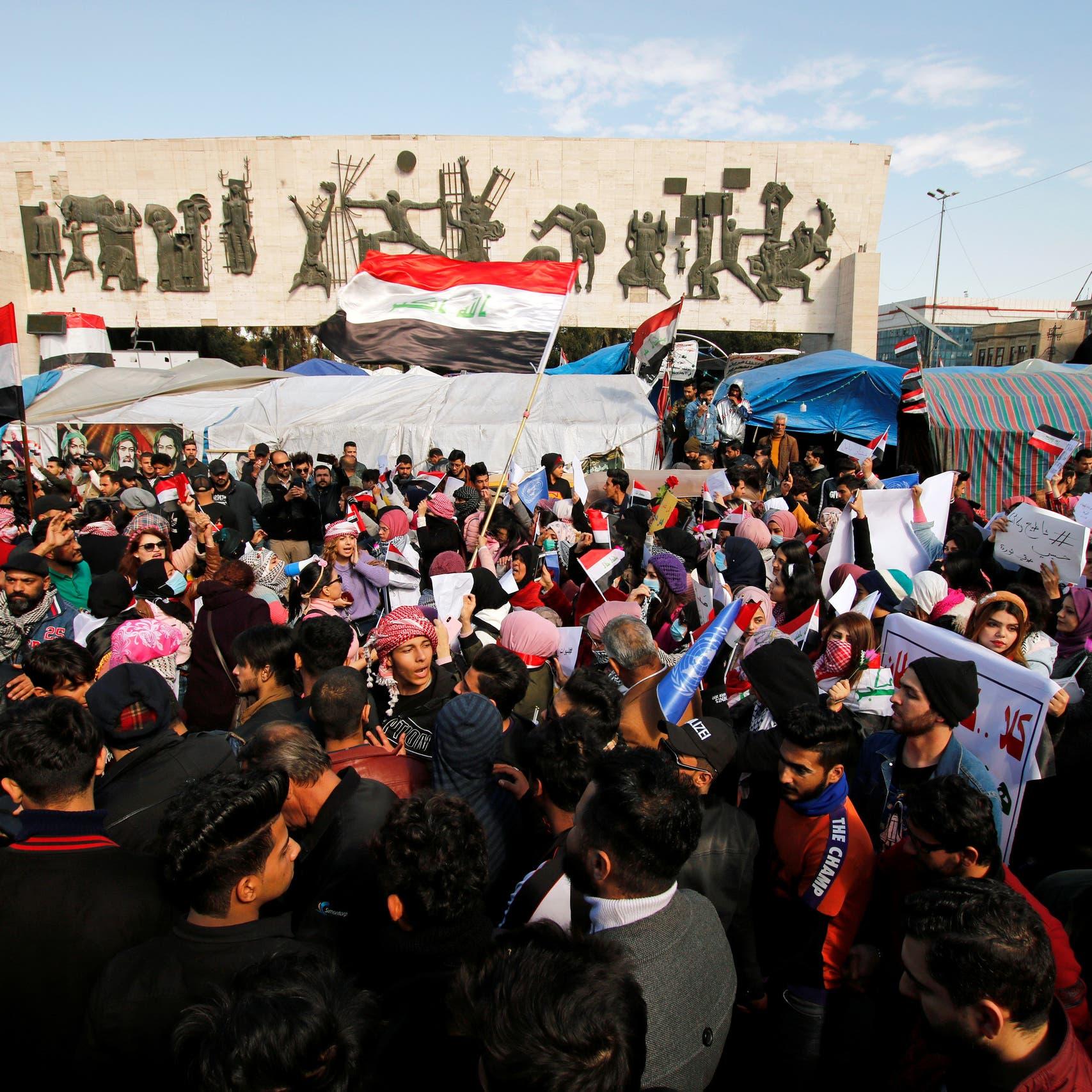 """سنة على """"ثورة تشرين"""".. ناشطو العراق عاتبون على السلطات"""