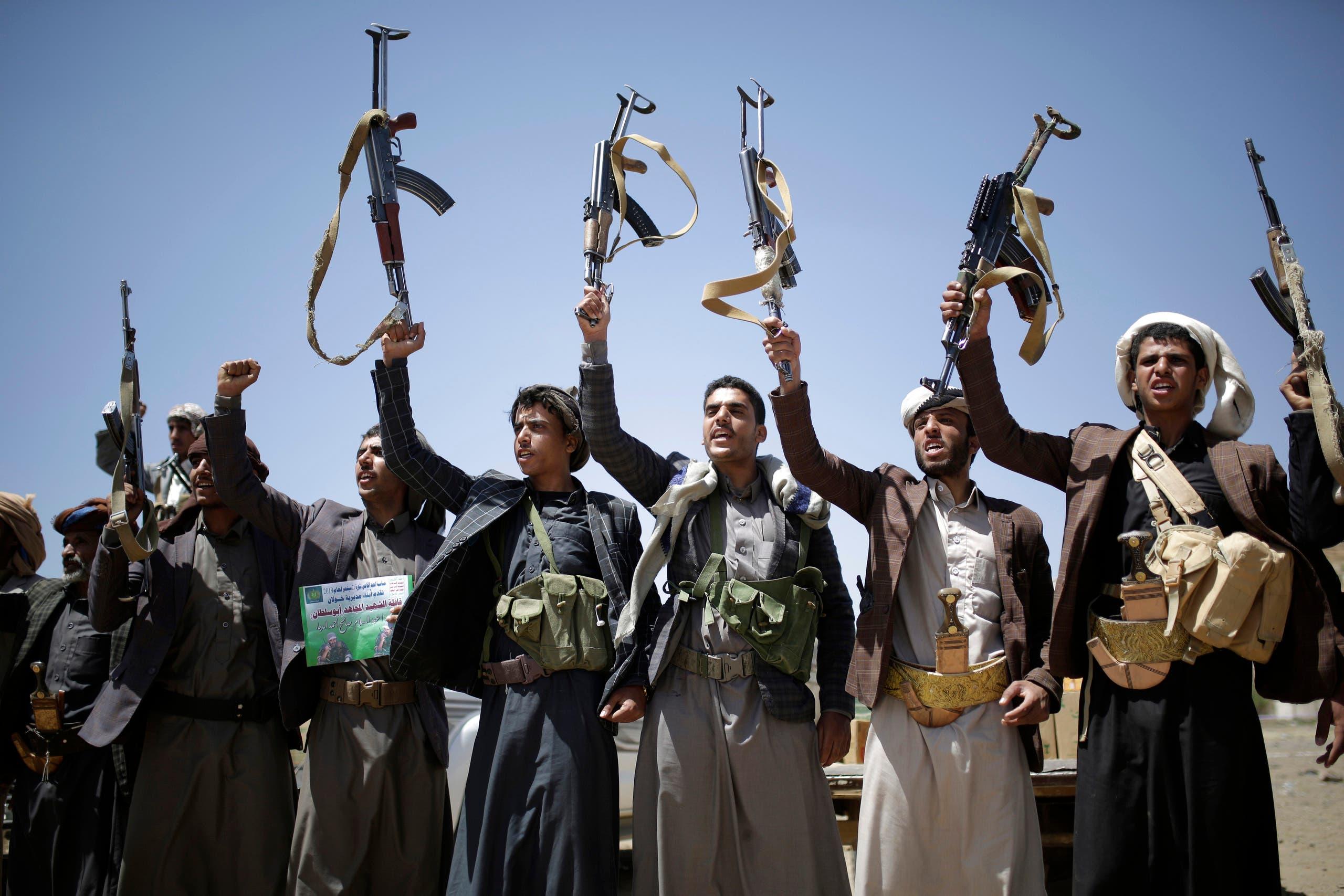 عناصر من ميليشيا الحوثي في صنعاء