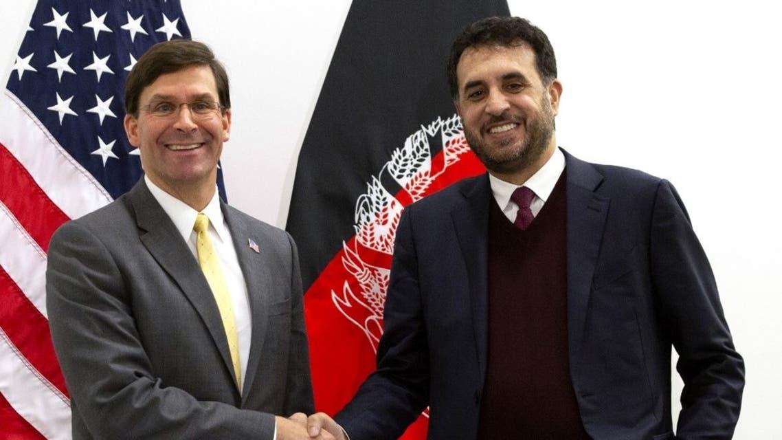 وزير الدفاع الأفغاني ونظيره الأميركي - فرانس برس