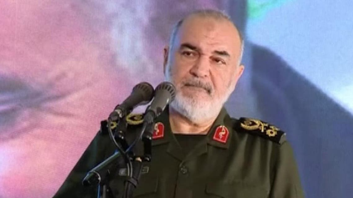 Major General Hossein Salami said in a speech at a ceremony marking the 40th day since the death of top commander Qassem Soleimani on February 13, 2020. (Reuters)