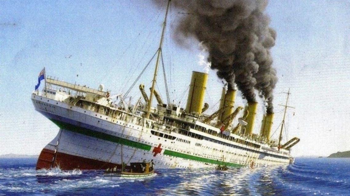 رسم تخيلي لحادثة غرق السفينة بريتانيك