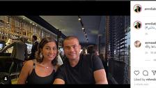 هكذا احتفل عمرو دياب بعيد الحب مع دينا الشربيني