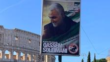 Pro-Assad group hangs posters in Italy honoring Iran's Soleimani