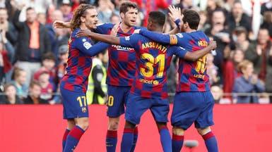 برشلونة يحقق فوزاً صعباً على خيتافي