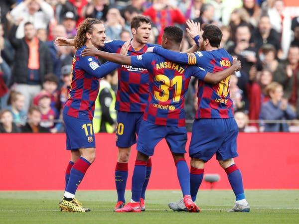 برشلونة يدعم جهود مكافحة كورونا بمباراة ودية