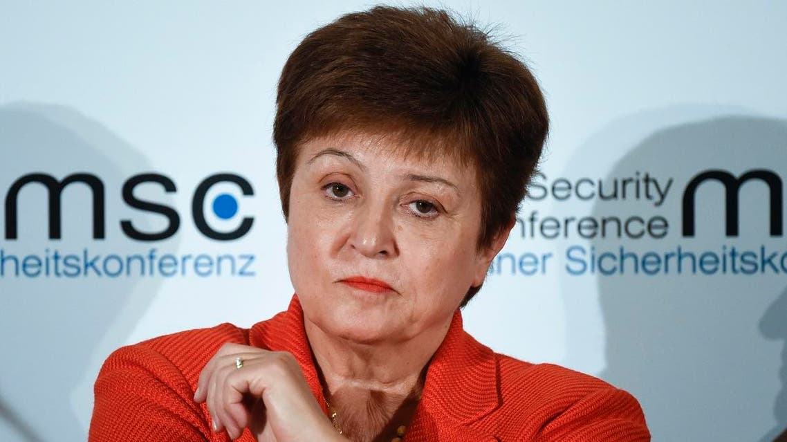 Kristalina Georgieva, Managing Director of the International Monetary Fund, attends a session on the first day of the Munich Security Conference in Munich, Germany, on Feb. 14, 2020. (AP)