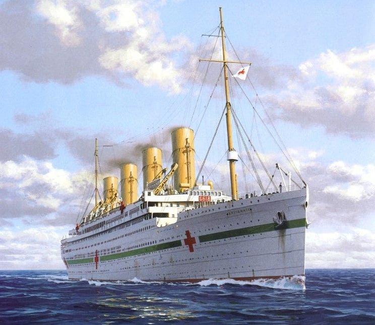 رسم تخيلي للسفينة بريتانيك