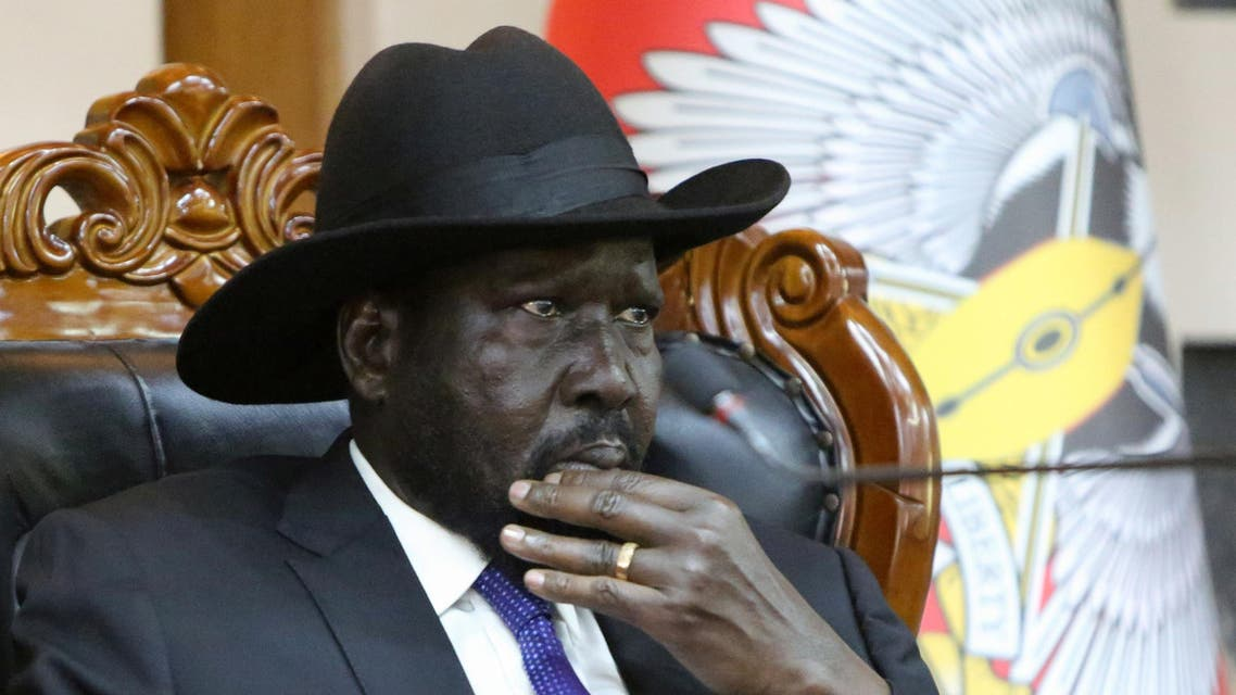South Sudan's President Salva Kiir attends a meeting on the cutting of the number of states from 32 to 10, at the State House in Juba, South Sudan February 15, 2020. (Reuters)