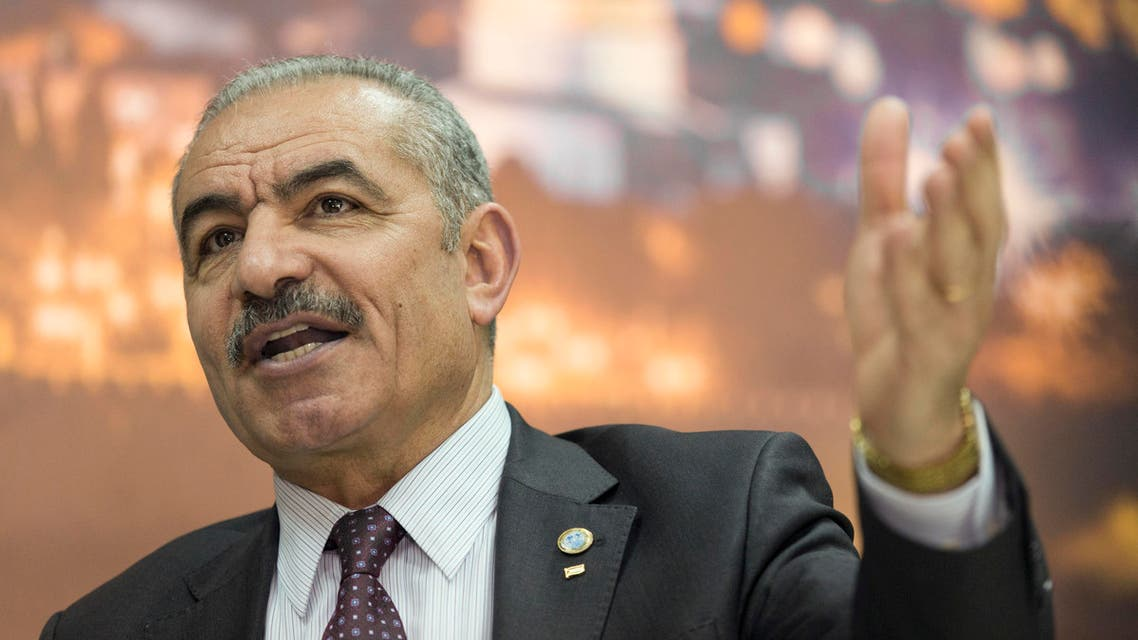 Palestinian Prime Minister Mohammad Shtayyeh at his office in the West Bank city of Ramallah on April 16, 2019. (File photo: AP)