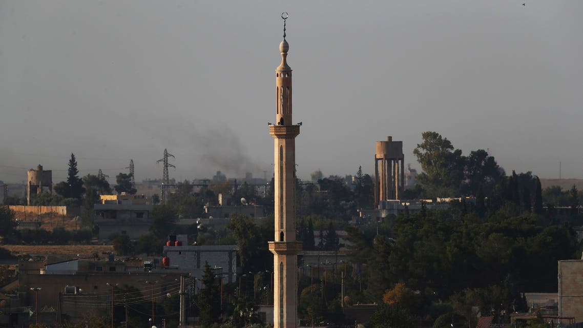 The town of Tel Abyad in Syria on Oct. 12, 2019. (File photo: AP)