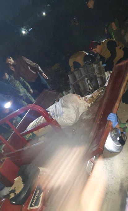 صور متداولة لمنصة الصواريخ التي أطلقت منها ٤ صواريخ ٣ منها قرب السفارة الاميركية في بغداد