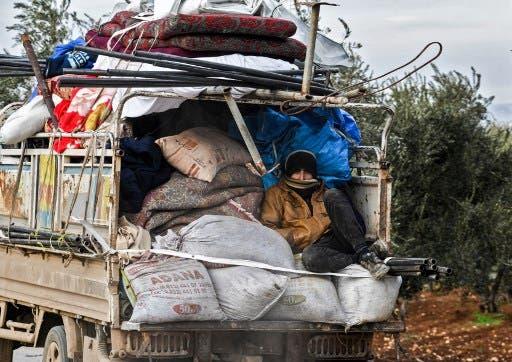 نزوح من  إدلب