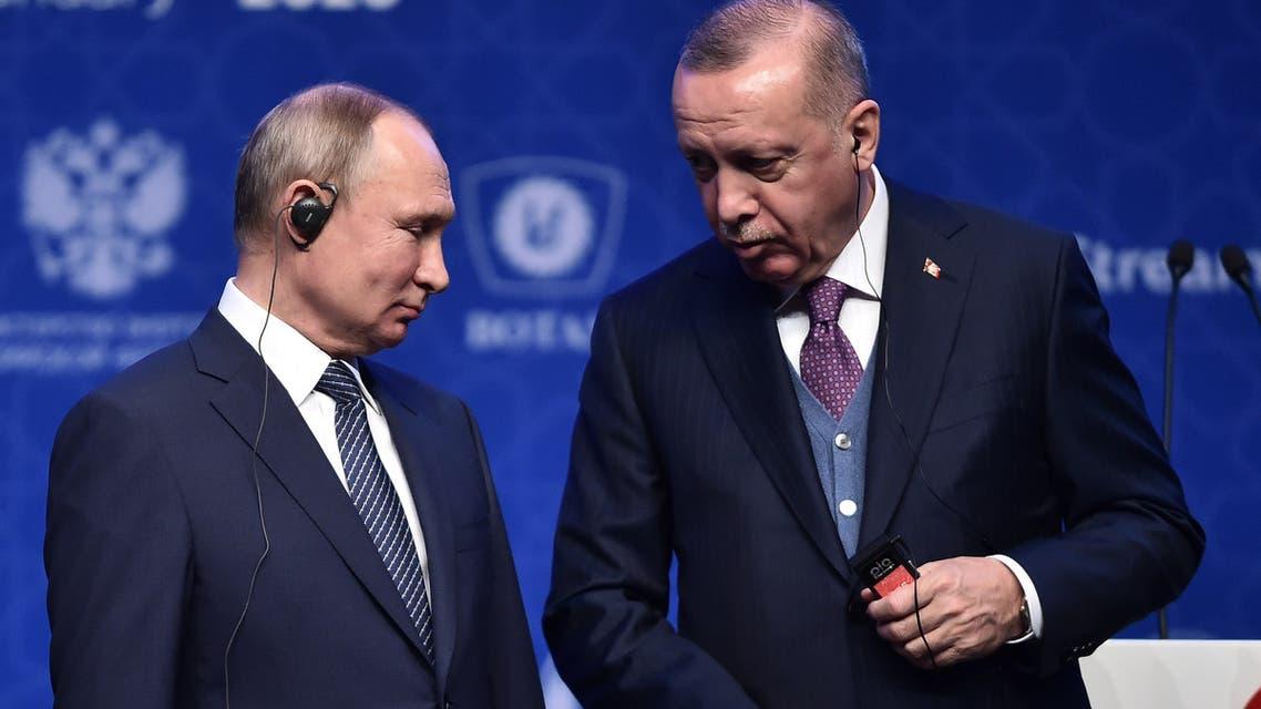 بوتين وأردوغان (أرشيفية- فرانس برس)