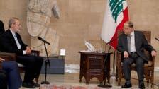 Lebanese President Aoun meets with Iran Parliament Speaker Larijani