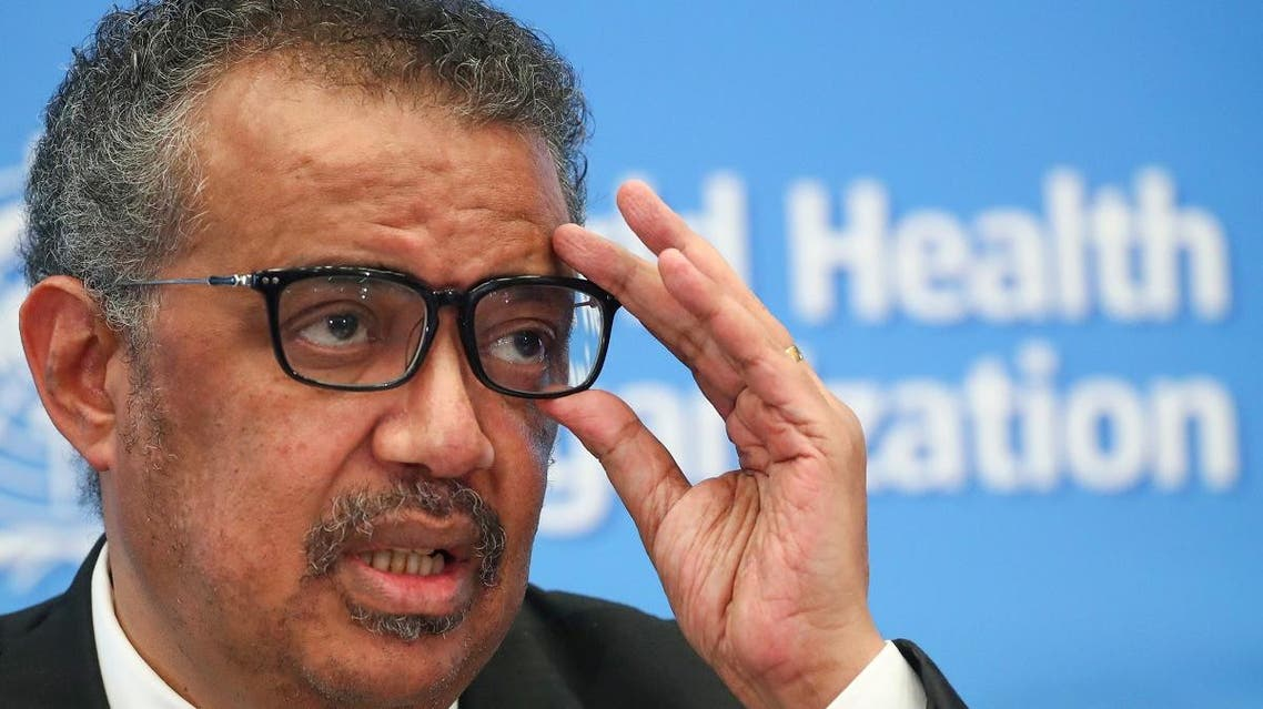 Director-General of the WHO Tedros Adhanom Ghebreyesus, attends a news conference on the novel coronavirus (2019-nCoV) in Geneva, Switzerland. (Reuters)