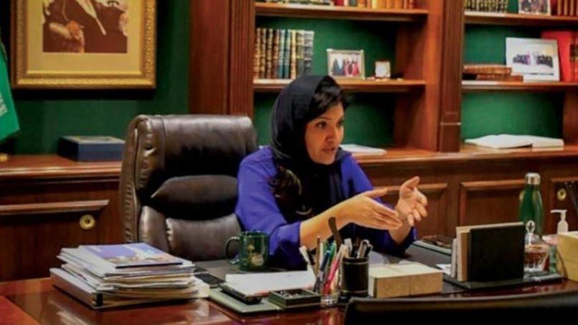 الأميرة ريما خلال الحوار مع الشرق الأوسط