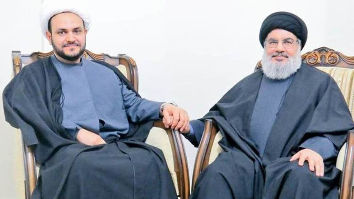 نصرالله والكعبي خلال لقاء سابق في تموز 2019
