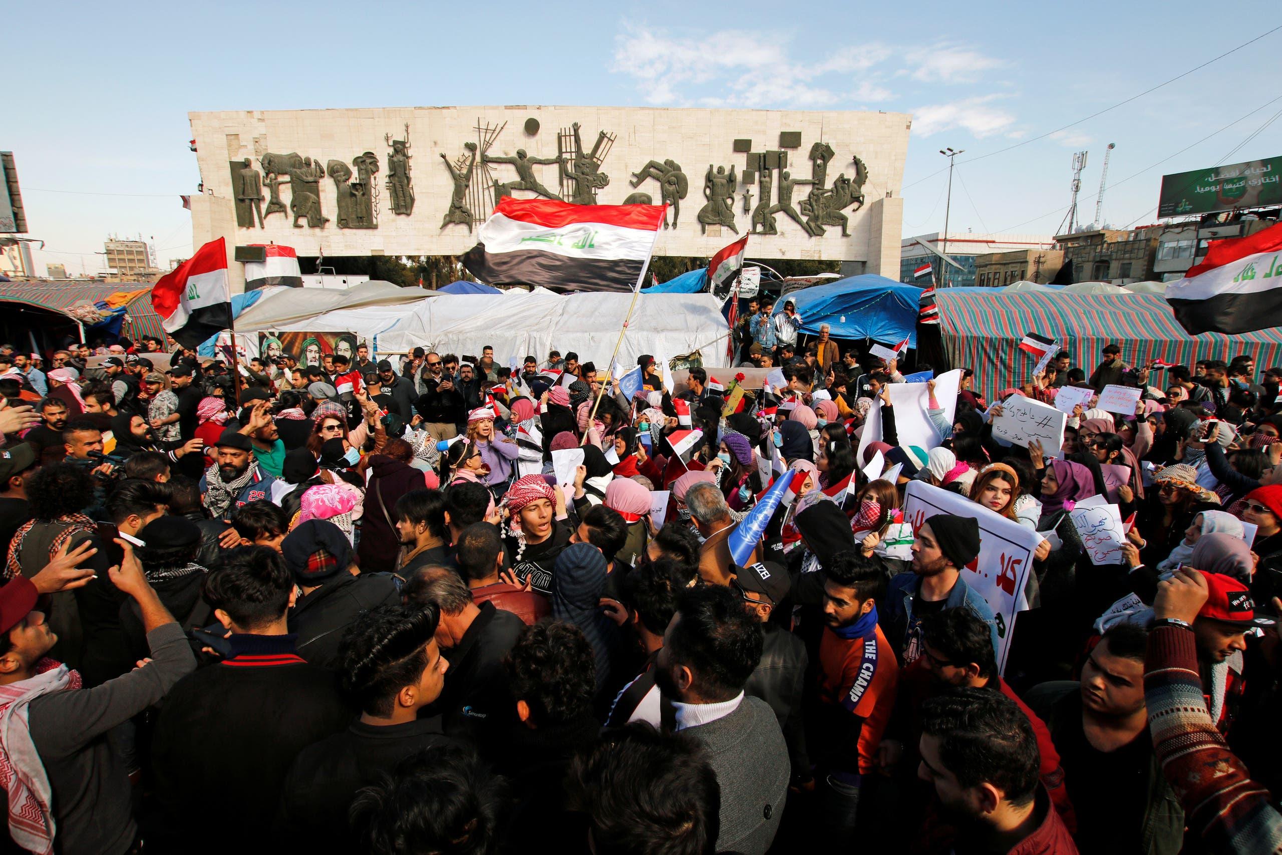 من وسط بغداد (13 فبراير - رويترز)