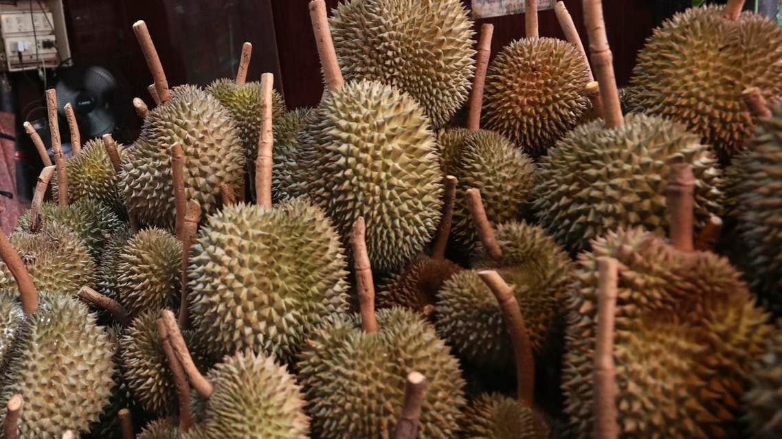 This September 3, 2019, file photo shows durians for sale in Bangkok. (File photo:AP)