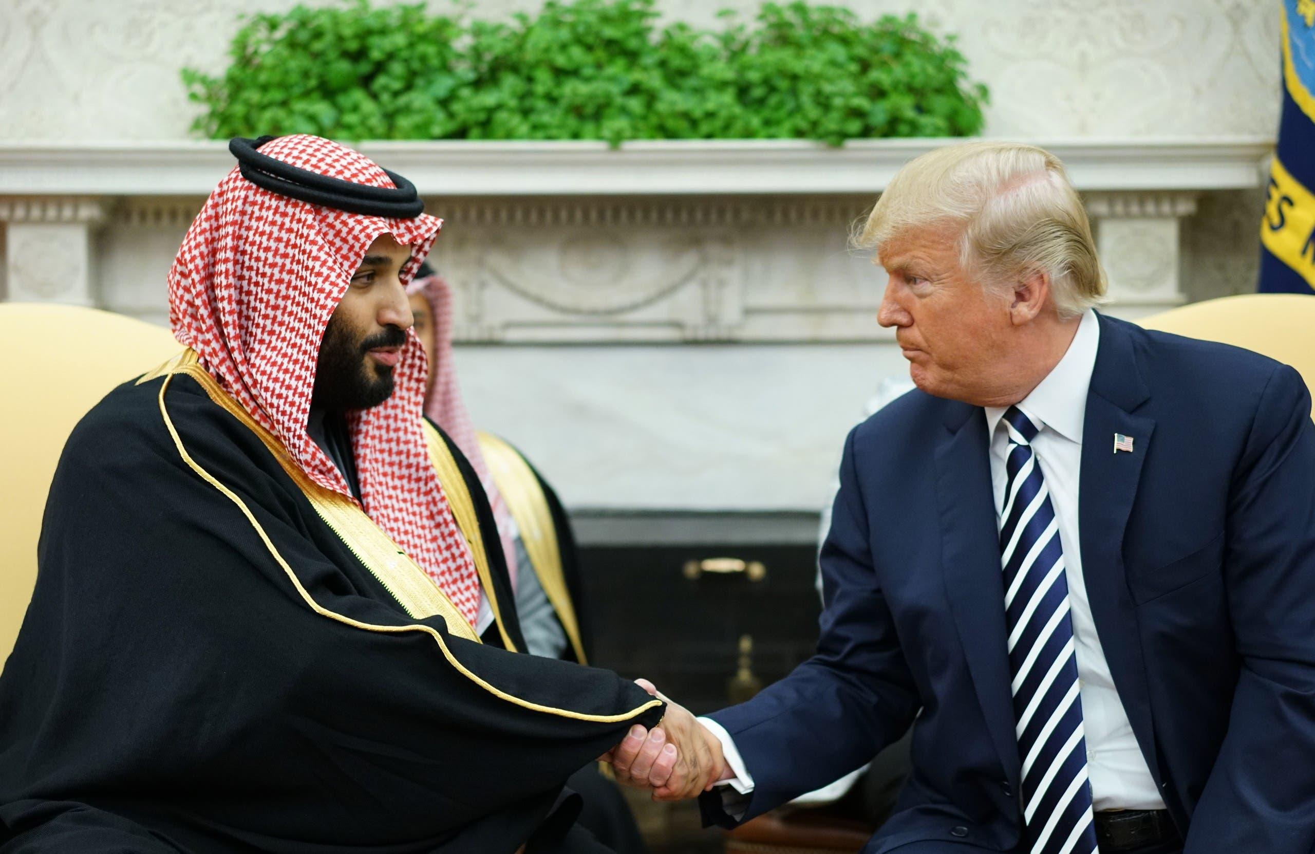 من لقاء ترمب والأمير محمد بن سلمان في البيت الأبيض يوم 20 مارس 2018