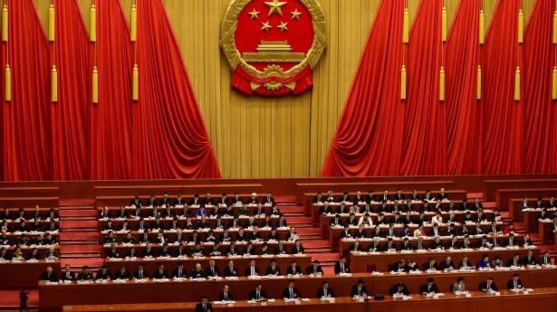 خلال إحدى دورات البرلمان الصيني (فرانس برس)