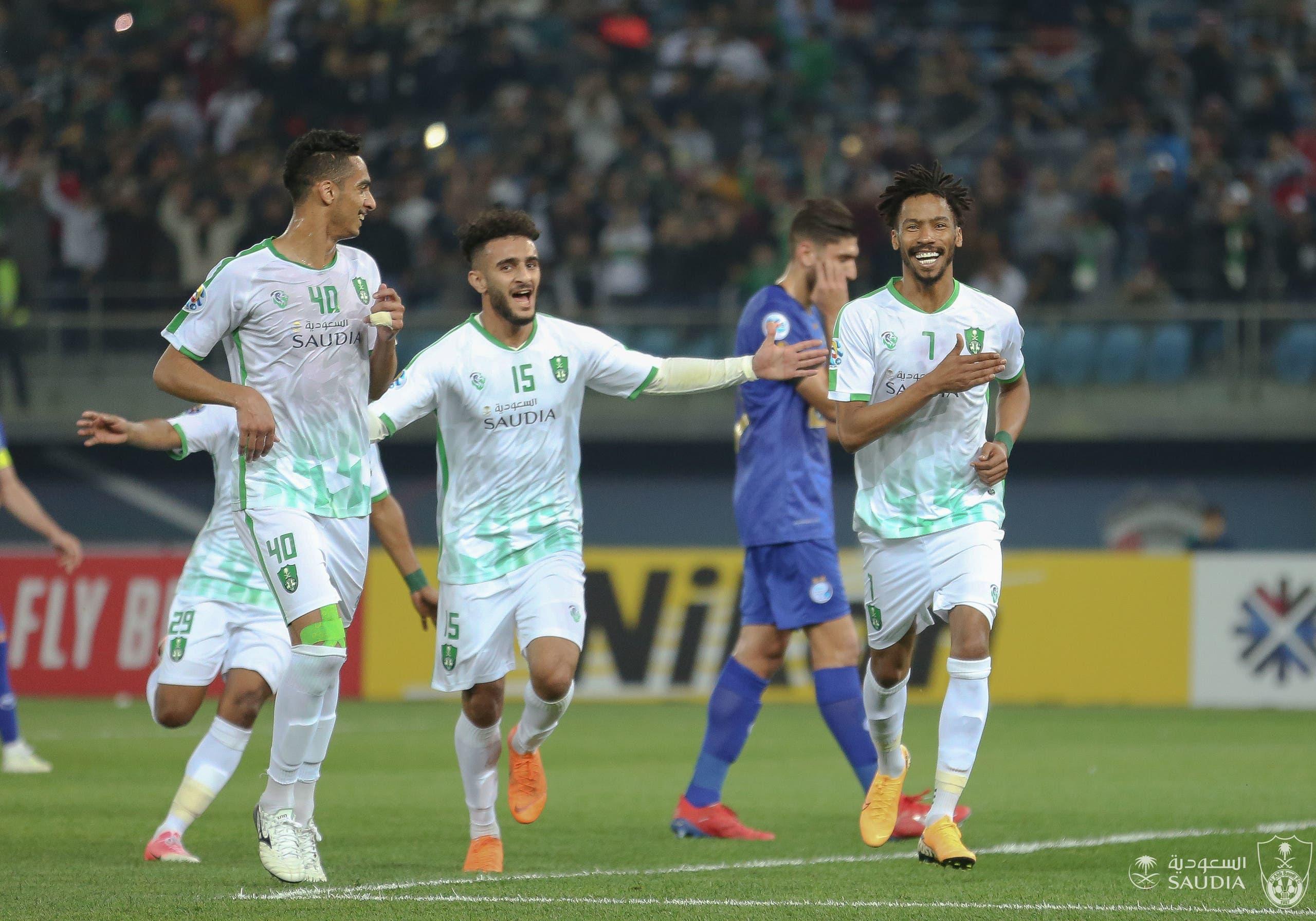 من مباراة أهلي جدة واستقلال طهران