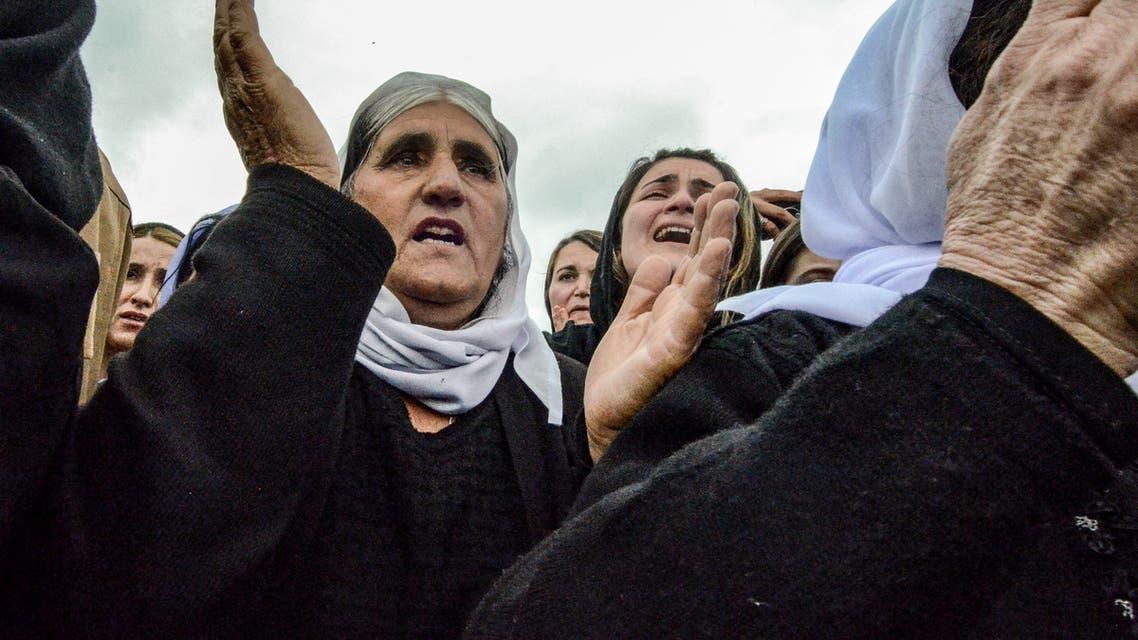 إيزيديات في سنجار يوم 15 مارس 2019