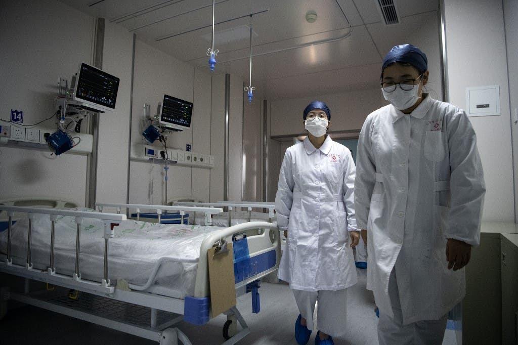 في أحد مستشفيات شنغهاي بالصين - فرانس برس